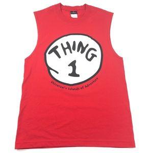 Universal Studios Thing 1 Muscle Tank Top